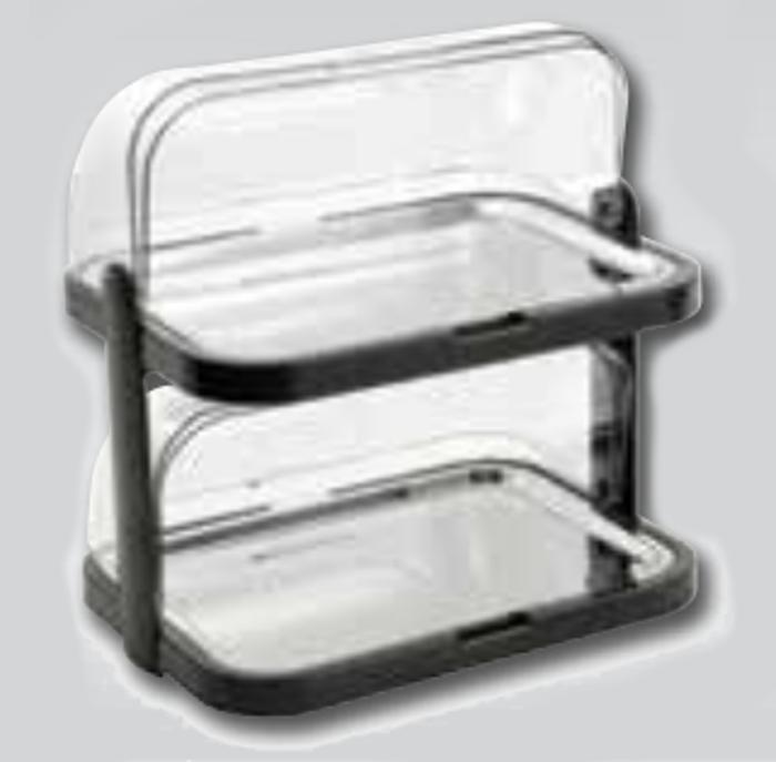 Bandeja refrigeradora doble con tapa móvil