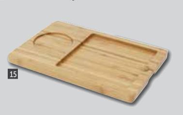 Bandejas presentación bambú y pizarra