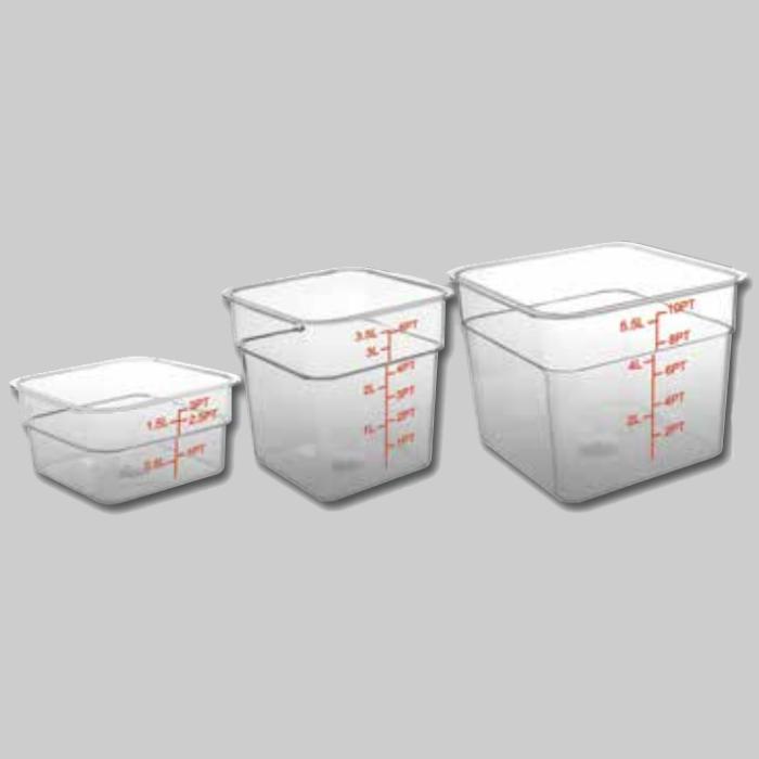 Contenedores de almacenamiento y tapas de colores Cuadrado 1,5 L