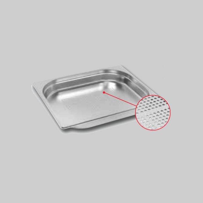 Recipientes de acero inoxidable Gastronorm Perforado, tamaño 1/2