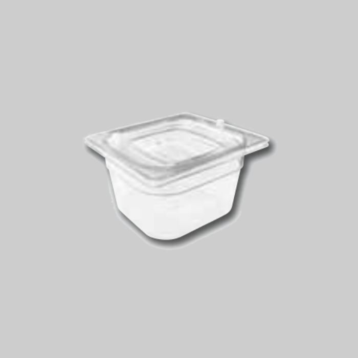 Contenedores Gastronorm de policarbonato para preparados fríos Tamaño 1/6