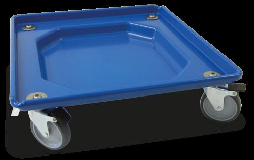 Plataforma con freno para transporte de cestos de lavavajillas