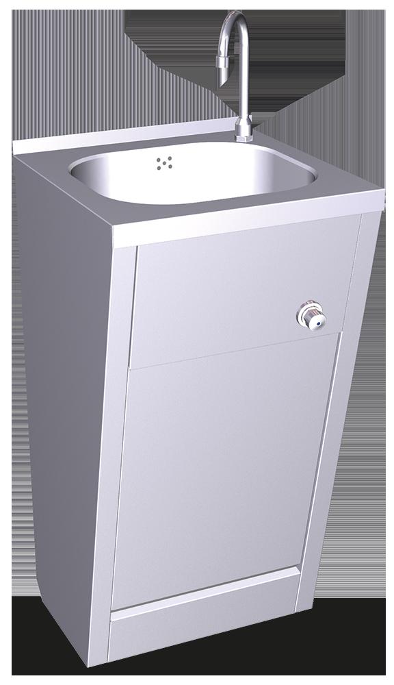 Lavamanos registrable de rodilla agua fría y caliente