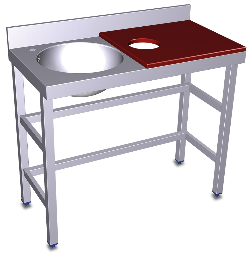 Mesas de preparación y lavado
