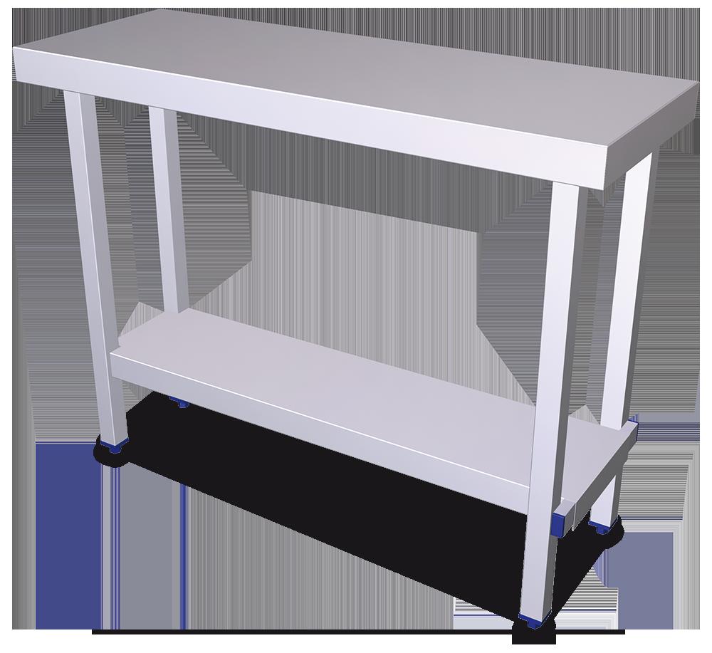 Mesas plegables con entrepaño