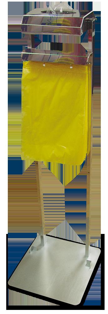 Conjunto dispensador de guantes y bolsas colgantes