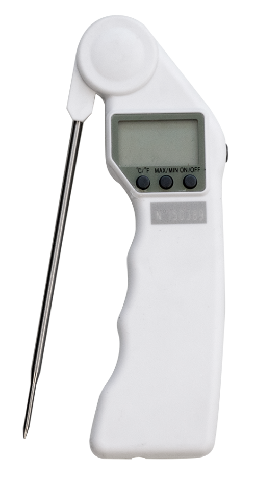 Termómetro de bolsillo con sonda rotativa