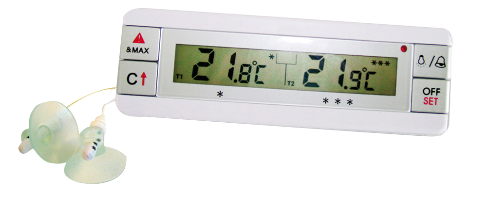 Termómetro digital con doble sonda para frigorífico-congelador