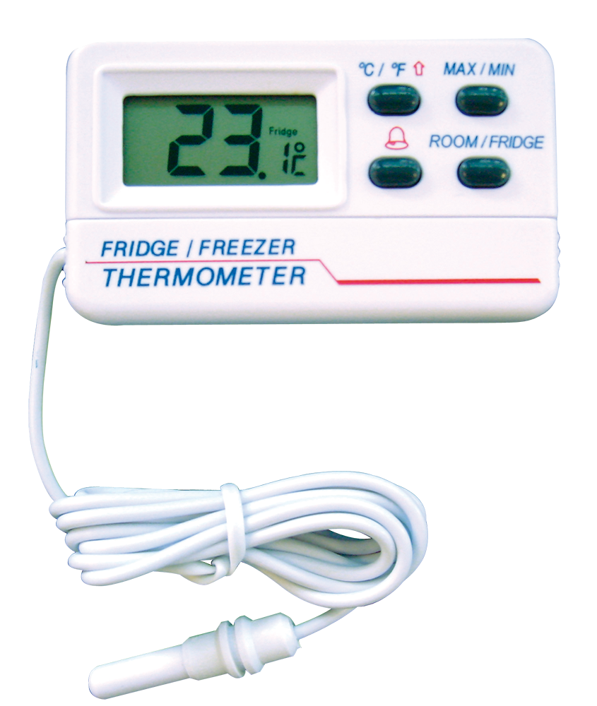 Termómetro digital con sonda para frigorífico-congelador