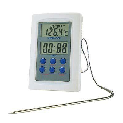 Termómetro digital con sonda para horno