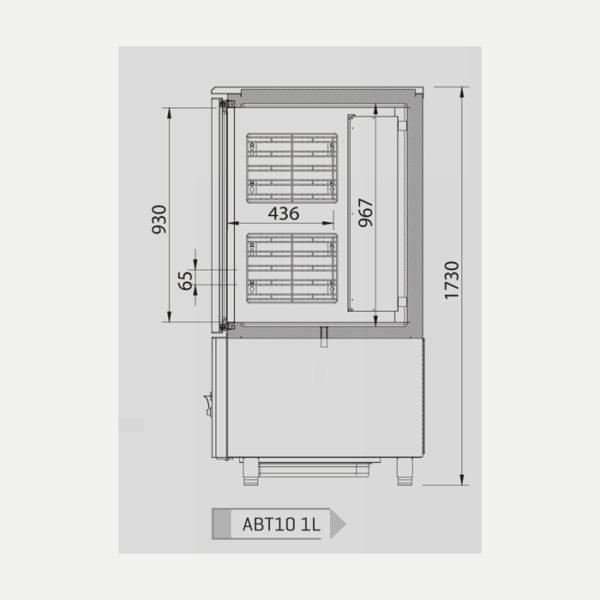 Abatidores y congeladores de temperatura 10, 14 niveles - Serie ABT