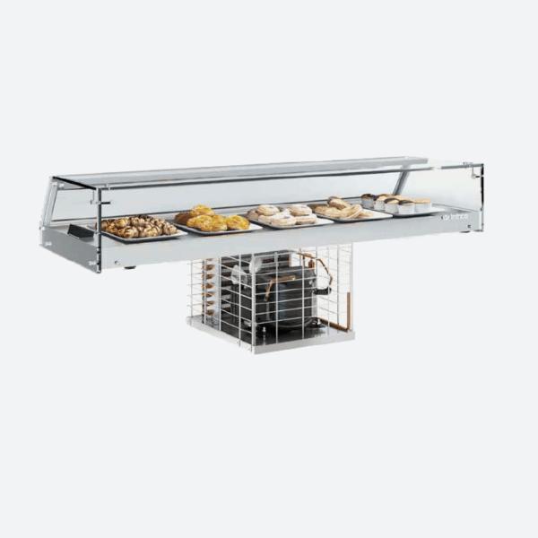 Expositor de barra cristal plano
