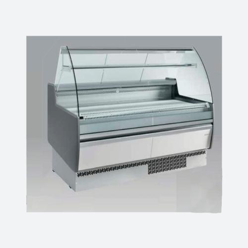 Vitrina expositora frio ventilado con reserva  con cristal serie mallorca