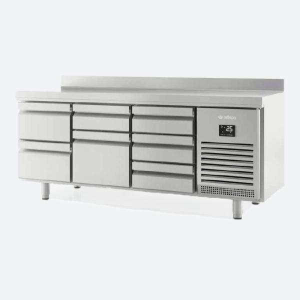 Mesa refrigerada con cajones serie 600