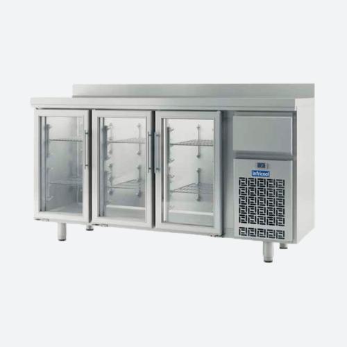 Frente mostrador puerta de cristal serie if600 infricol