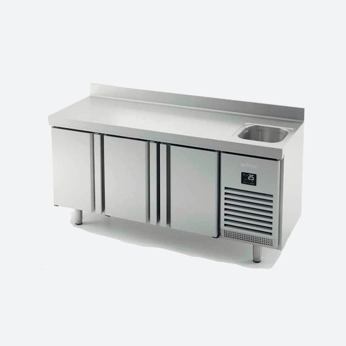 Mesa refrigerada con fregadero serie 700