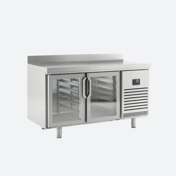 Mesa refrigerada con puertas de cristal  serie 600