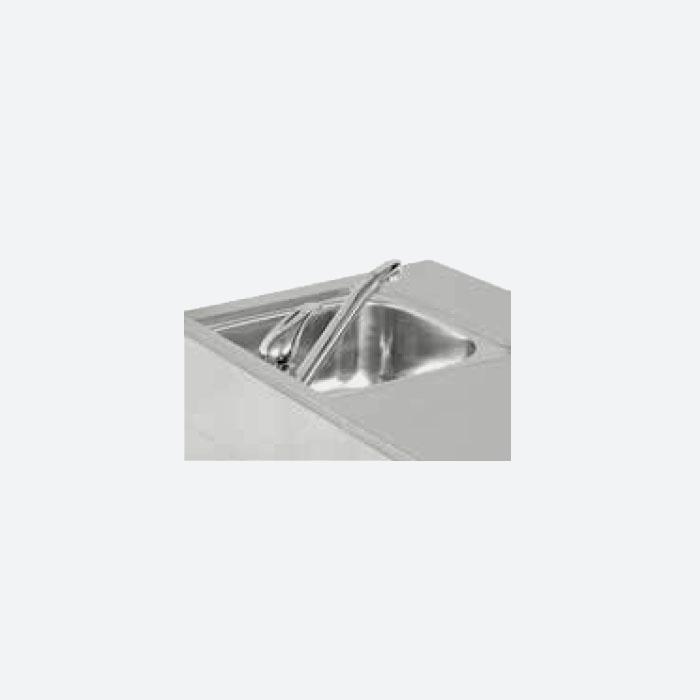 Mesa refrigerada con fregadero serie 600