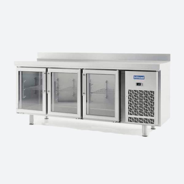 Mesas refrigeradas puerta de cristal serie im 600 infricol