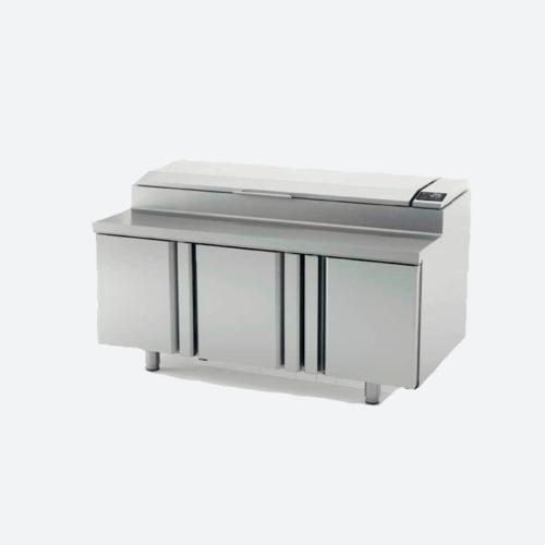 Mesa y bandejas superior refrigerada para ensaladas siere MEV800