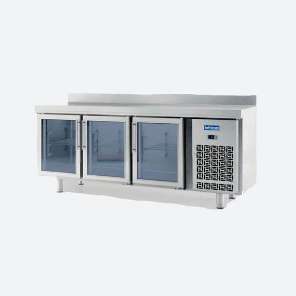 Mesa refrigeracion euronorma 600 x 400 serie 800 puerta cristal
