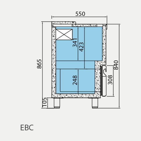 Enfriador de Botella EBC 1000 II - Medidas