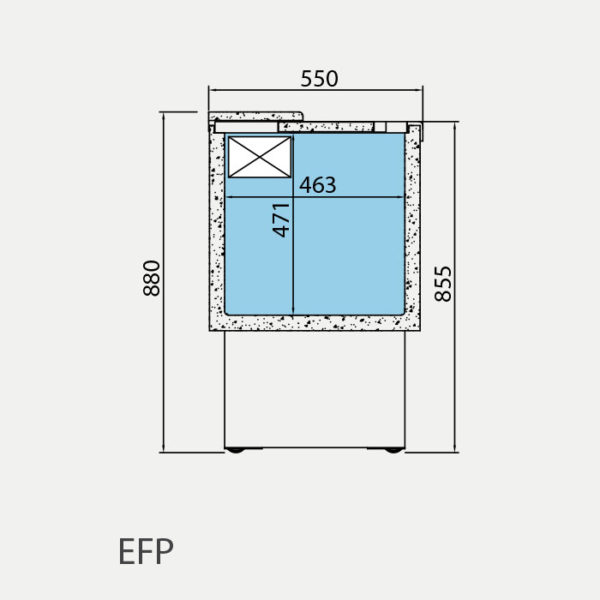 Botellero frigorífico para bar 1954x550x880 mm EFP 2000 EG - EFP MEDIDAS
