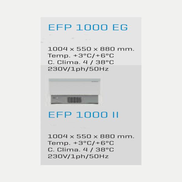 ENFRIADOR DE BOTELLAS EFP 1000 EG INFRICO - EFP1000EG-1000II-MEDIDAS-FREDDESPI