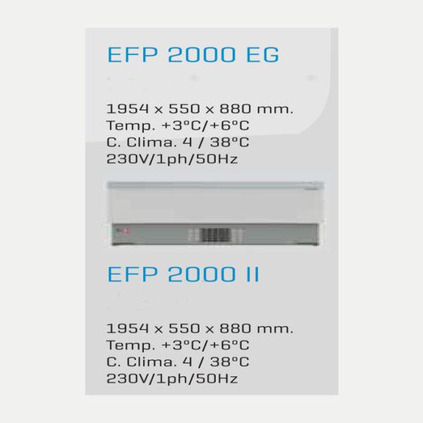 Botellero frigorífico para bar 1954x550x880 mm EFP 2000 EG - EFP2000EG-2000II-MEDIDAS-FREDDESPI