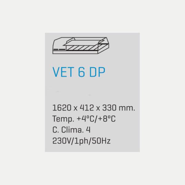 Vitrina para Tapas VET 6 DP - medidas