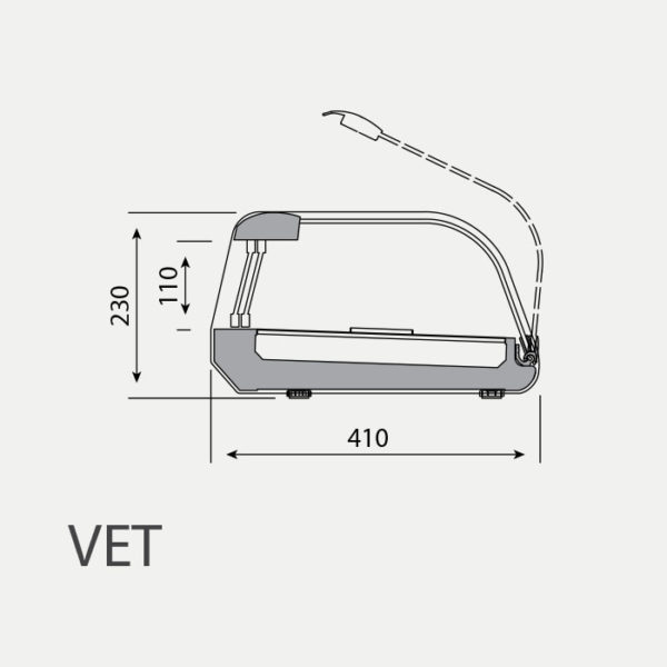 Vitrina para Tapas VET 6 DP - Plano - Fred-Despi