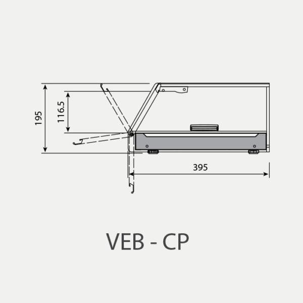 Vitrina para Tapas VEB 6 CP - vitrina para restaurantes
