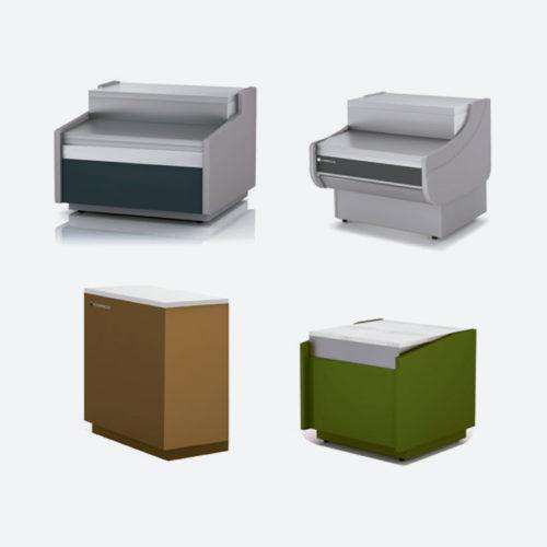 Mamparas y separadores para vitrinas modulares